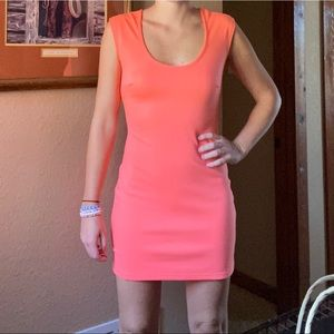 Bright Orange/Peach Mini Dress